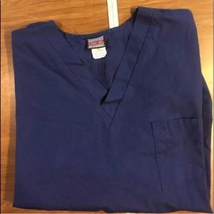 Cherokee 3XL navy one pocket scrub top